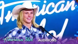 Austin M. Robinson: He's Only 15 But This Cowboy HEARTTHROB Is Here To Stay | American Idol 2019