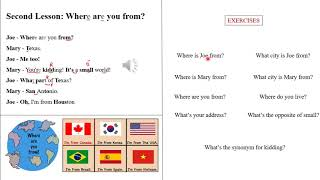 Second American English Lesson