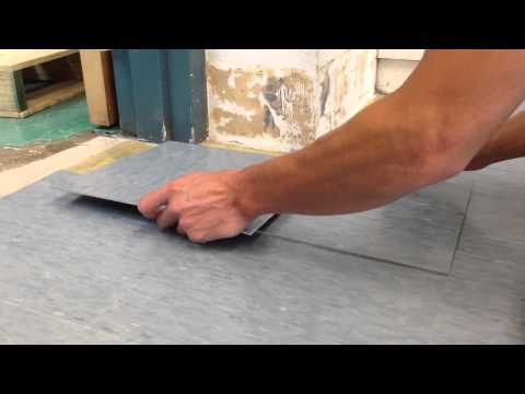 How to cut floor tiles around corners