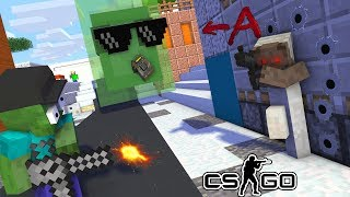 Monster School : Herobrine's in Counter Strike VS GRANY and Baldi's CS GO - Minecraft Animation