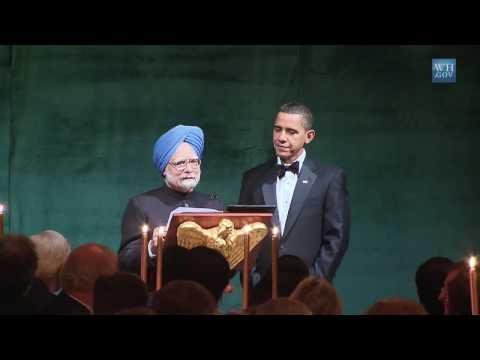 Barack Obama  Greets  Manmohan Singh
