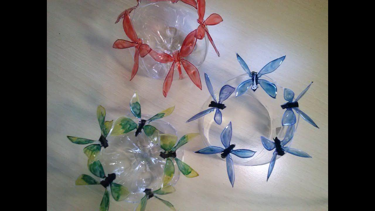 Aparador Feito De Paletes ~ Como fazer borboletas em garrafas pet passo a passo recycling YouTube