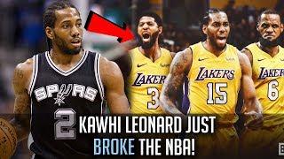 Kawhi Leonard To Join LeBron James! - How Kawhi Leonard SHOOK The NBA!