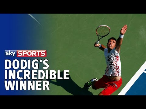 Ivan Dodig's incredible hot dog shot against Feliciano Lopez at US Open 2014