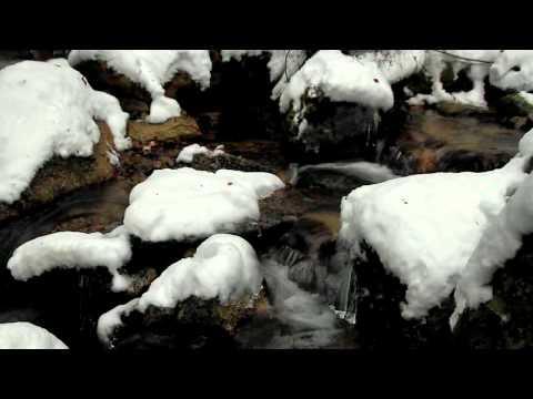 恵那市 「寿老の滝」 ~雪景色~