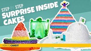 4 Awesome SURPRISE INSIDE Cakes | Secret Chamber Cakes | How To Cake It | Yolanda Gampp