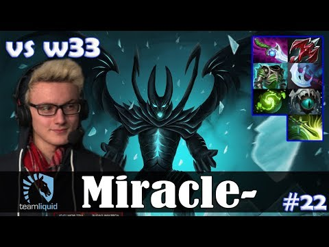Miracle - Terrorblade Offlane | vs w33 (Silencer) | Dota 2 Pro MMR  Gameplay #22