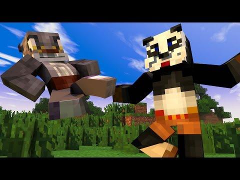 Minecraft Mods - MORPH HIDE AND SEEK - KUNG FU PANDA MOD!