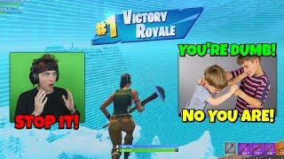 these brothers were fighting WHILE i won them the game in fortnite... (not good)