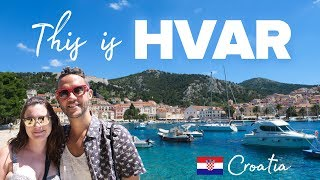 This is HVAR. Croatia's hilltop fortress town.