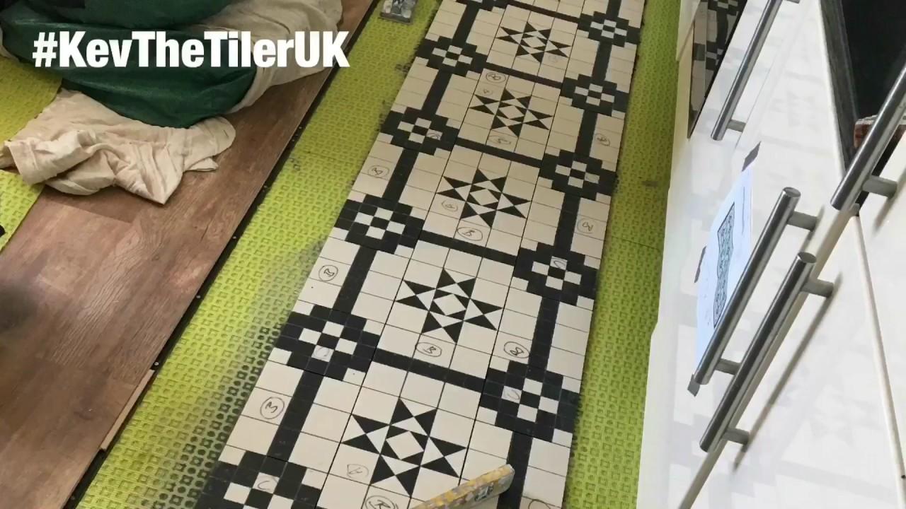 Floor tiles laying