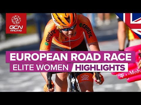 Elite Women's Road Race Highlights | European Championships 2019 | GCN Racing