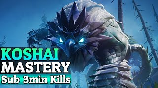 Hunt Heroic Koshai in Under 3 minutes with All Weapons - Behemoth Mastery - Dauntless Patch 0.7.2