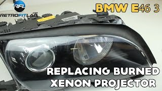 BMW E46 3 replacing burned xenon projector in Bosch AL headlight