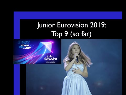 Junior Eurovision 2019: Top 9 (so far)