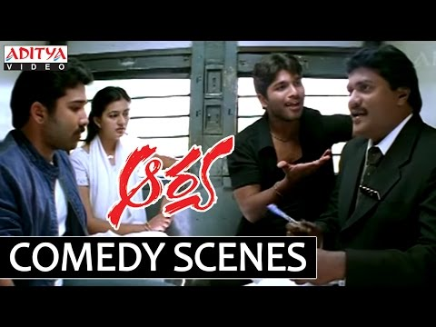 Allu Arjun Aarya Comedy Scenes - Sunil Hilarious Punch Comedy video