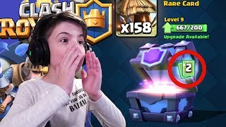 2x LEGENDARY CARDS IN SUPER MAGICAL CHEST? - Clash Royale