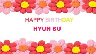 Hyun Su   Birthday Postcards & Postales
