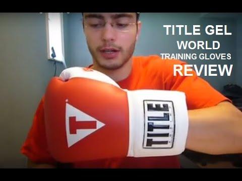 Title World Gel Bag Gloves Title Gel World Training Lace