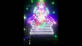 Indian Goddess light setting Tamil Village
