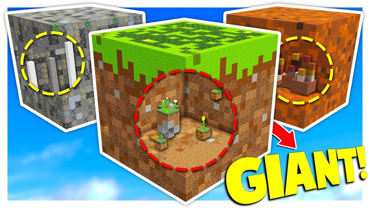 GIANT BLOCK PARKOUR in MINECRAFT! with PrestonPlayz
