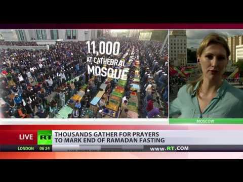 Festival of Breaking Fast: Moscow Muslims celebrate Eid-al-Fitr