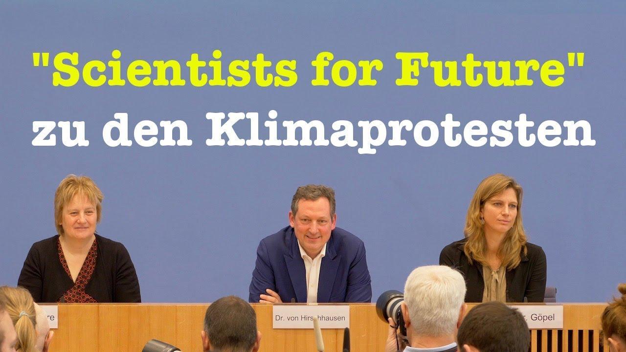 Bundespressekonferenz von ScientistsForFuture