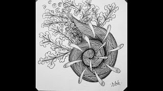 Weekly Zentangle® Tangle Video--SPIRAL