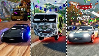 Cars 3 Driven to Win - Fabulous Lightning McQueen VS Arvy - Miss Fritter Battle Race 2017