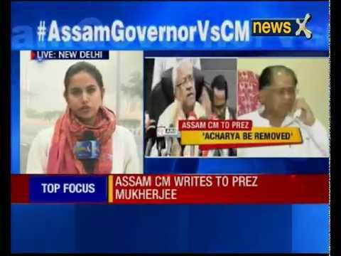 Assam CM Tarun Gogoi writes to Pranab Mukherjee, demands Governor's removal