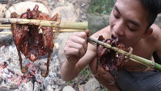 Primitive Technology: Shoot the bird with blowgun and delicious grilling