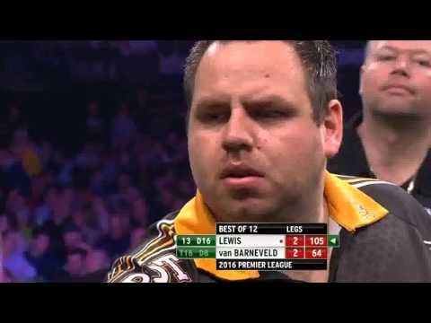 Premiere League darts week 8 Lewis vs van Barneveld