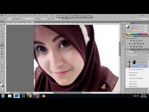 Menghaluskan kulit wajah in Photoshop CC