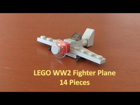 How To Build A Mini LEGO World War 2 Fighter Plane 14 Pieces