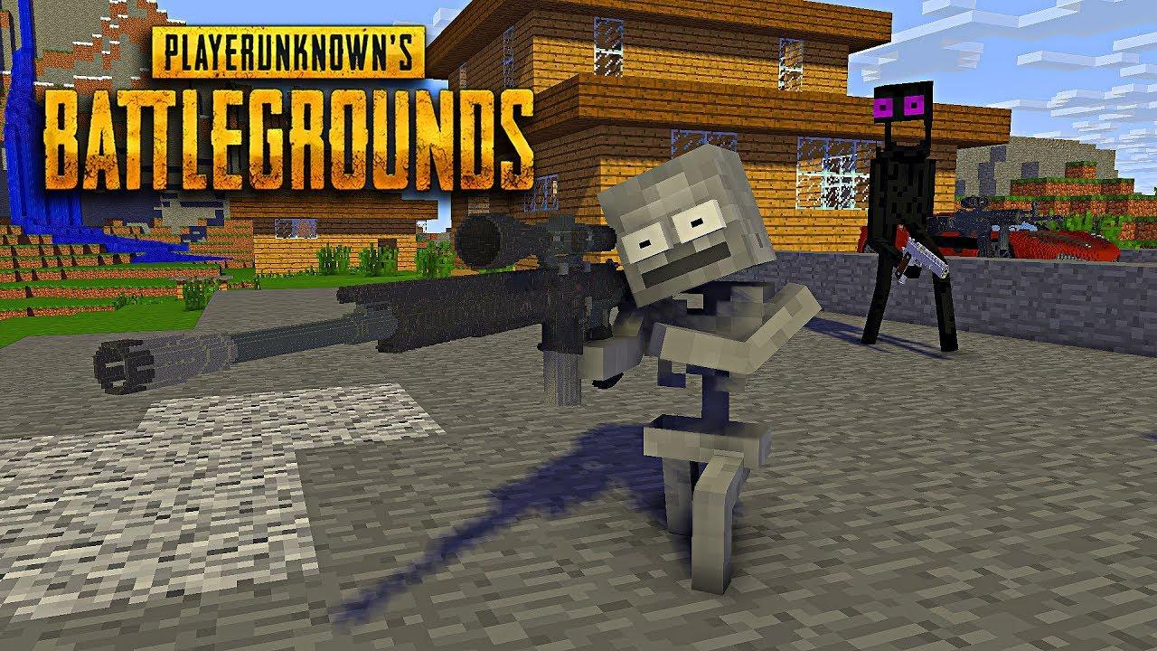 Monster School : Fighting in Player Unknown Battlegrounds - Minecraft Animation