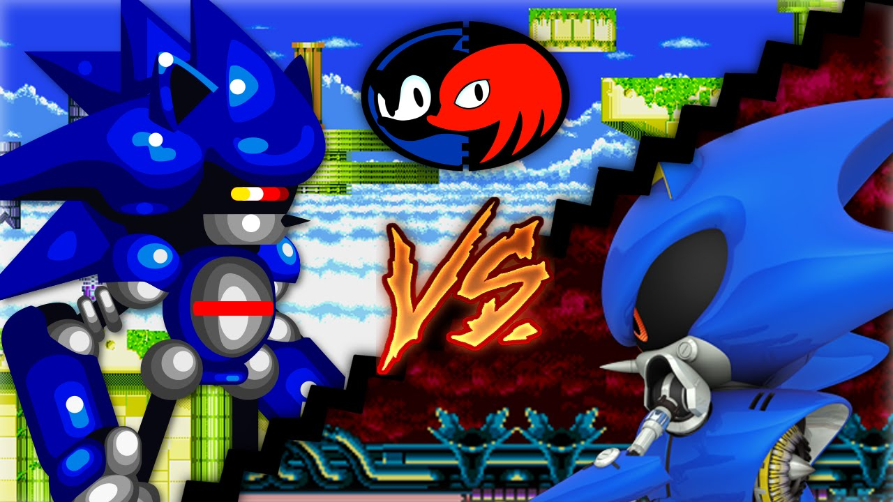 Super Knuckles vs Super Sonic Sonic vs Super Mecha Sonic