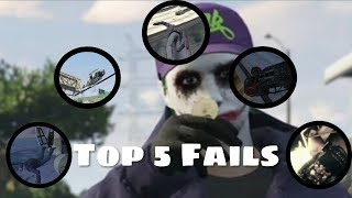 Top 5 Funny fails in gta | GTA V Xbox One