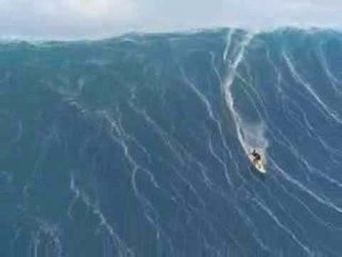 Surfing Huge Waves in Hawaii