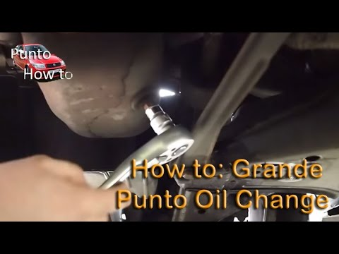 Fiat Punto 1.2. 1.4 8v Grande Petrol Oil and Oil Filter Change