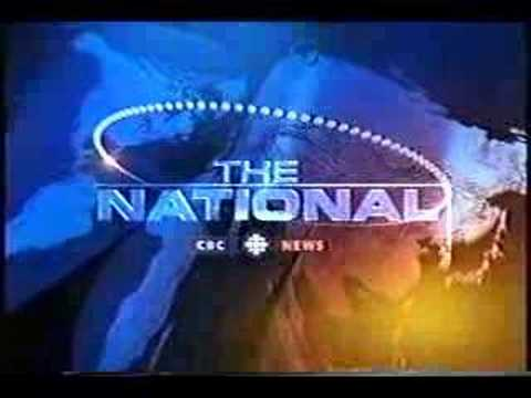 The very cool opening of the late evening newscast of CBC, The National. A complete version, anyone?