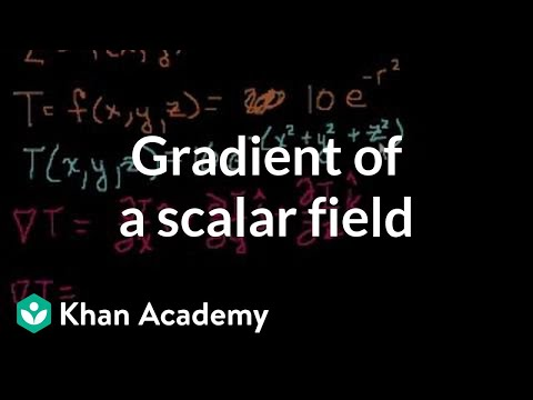 Gradient of a scalar field