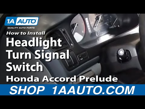 How To Install Replace Headlight Turn Signal Switch Honda Accord Prelude 90-95 1AAuto.com