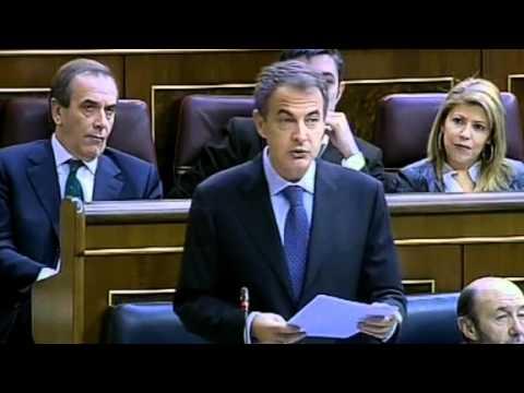 01-12-10. Sesión de Control. Zapatero anuncia rebaja del Impuesto de Sociedades a pymes