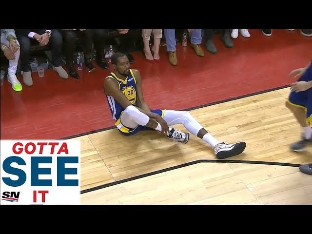 GOTTA SEE IT: Kevin Durant Helped Off Floor After Apparent Leg Injury thumbnail