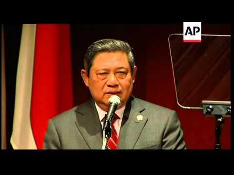 Indonesian president visits Tokyo; edit of university speech