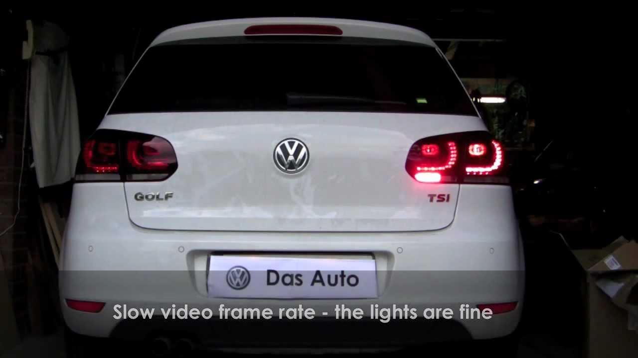 LED    tail    light install in    MK6    MKVI    Golf     YouTube