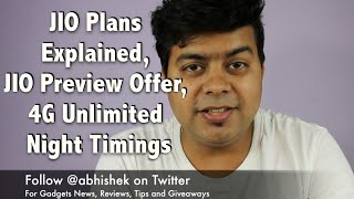 Hindi | FAQ JIO Plans Explained, JIO Welcome Offer, Unlimited 4G at Night and More | Gagdets To Use