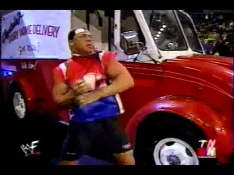 Kurt Angle Destroys the Alliance with A Milk Truck WWF RAW 8/20/01