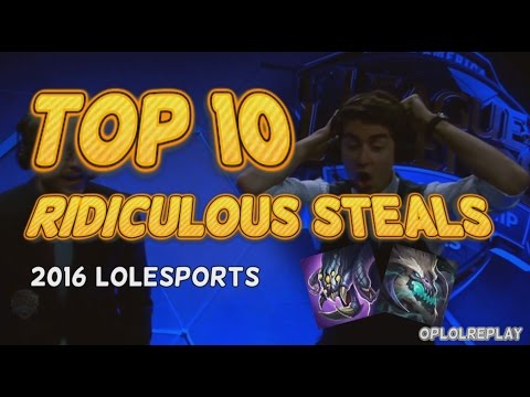 Top 10 Ridiculous Baron/Dragon Steals - 2016 Lolesports