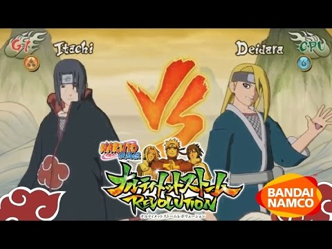 Naruto Ultimate Ninja Storm Revolution: Itachi vs Deidara MOVESET GAMEPLAY